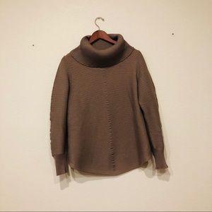 Sweaters - Tan ribbed turtleneck tunic